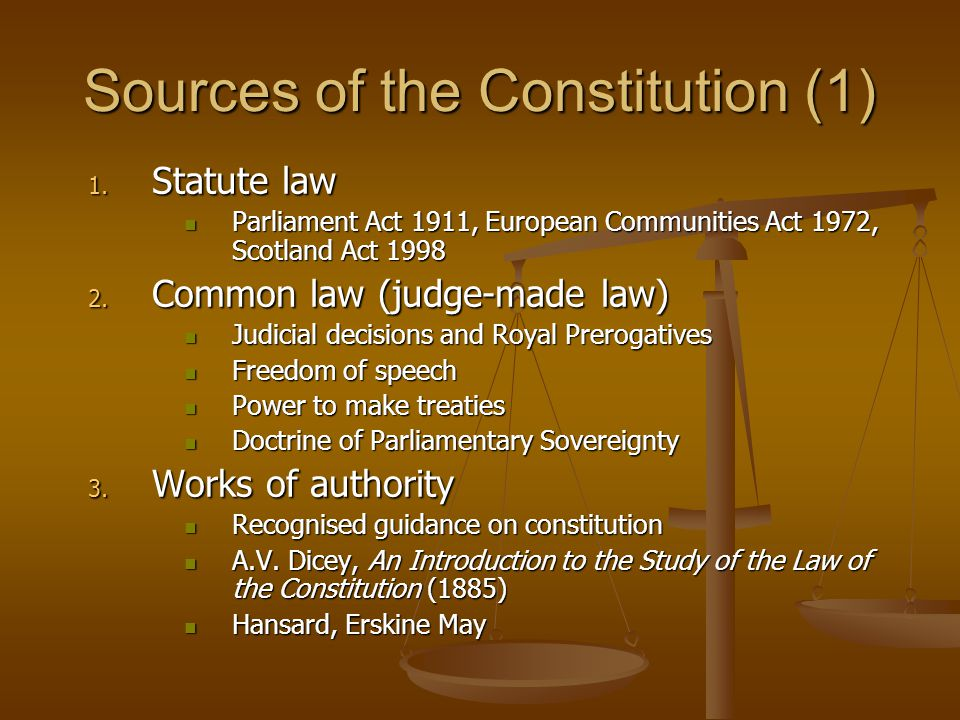 Sources of the Constitution (1)