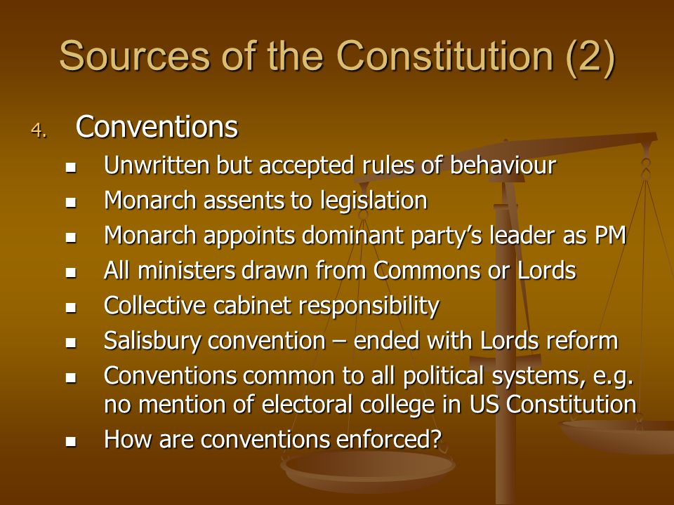 Sources of the Constitution (2)