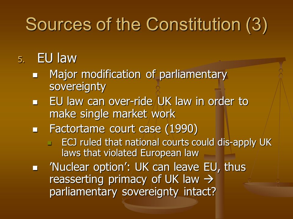 Sources of the Constitution (3)