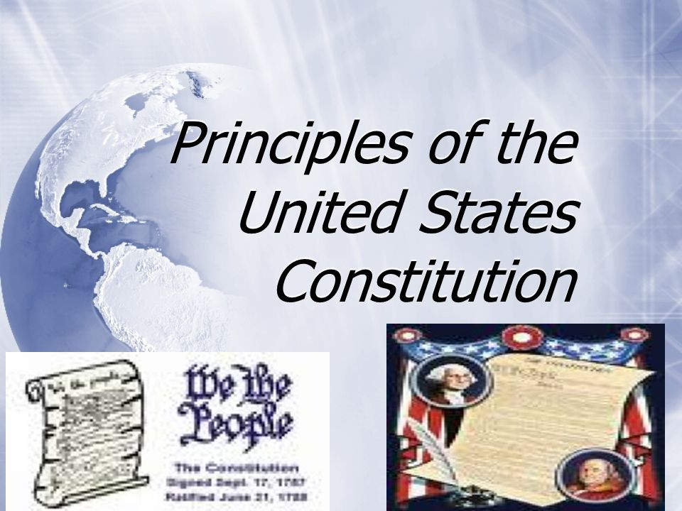Principles of the United States Constitution