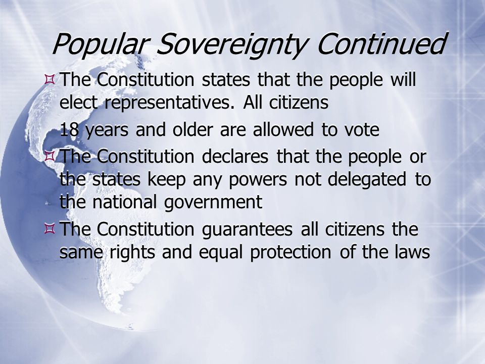 Popular Sovereignty Continued