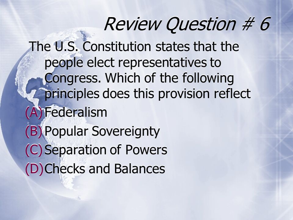 Review Question # 6
