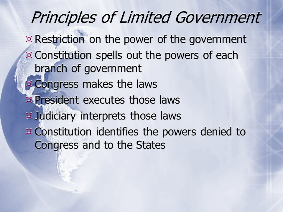 Principles of Limited Government