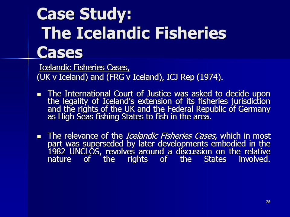 Case Study: The Icelandic Fisheries Cases