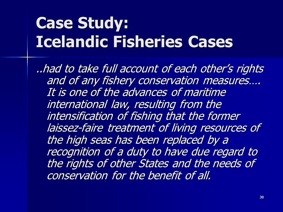 Case Study: Icelandic Fisheries Cases