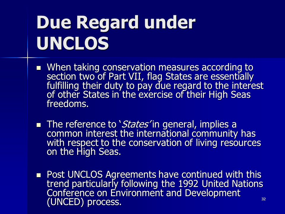 Due Regard under UNCLOS