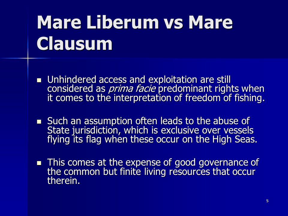 Mare Liberum vs Mare Clausum