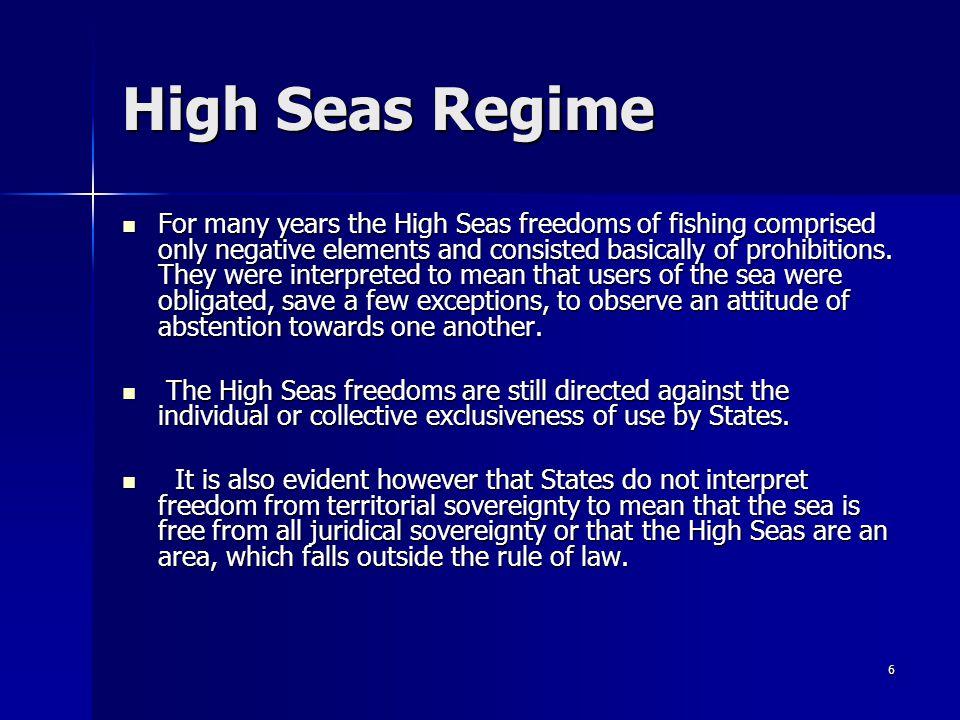 High Seas Regime