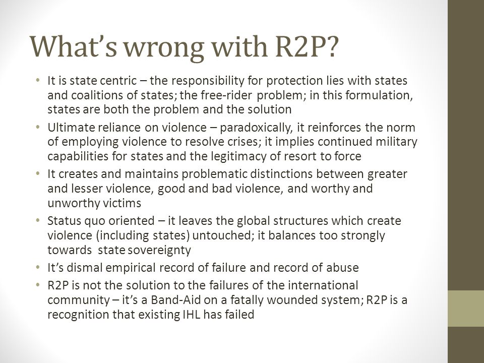 What's wrong with R2P