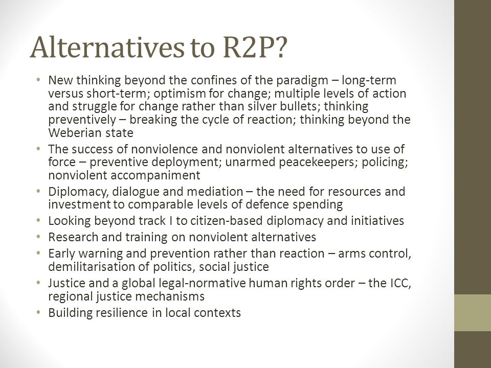 Alternatives to R2P