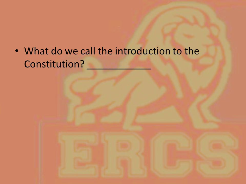 What do we call the introduction to the Constitution ____________