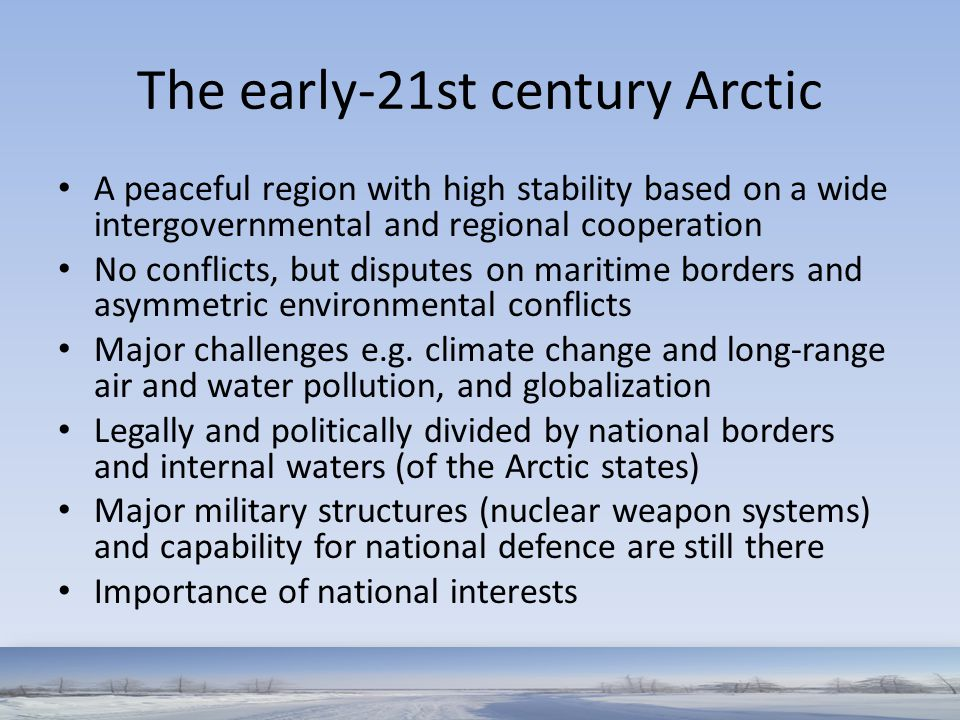 The early-21st century Arctic