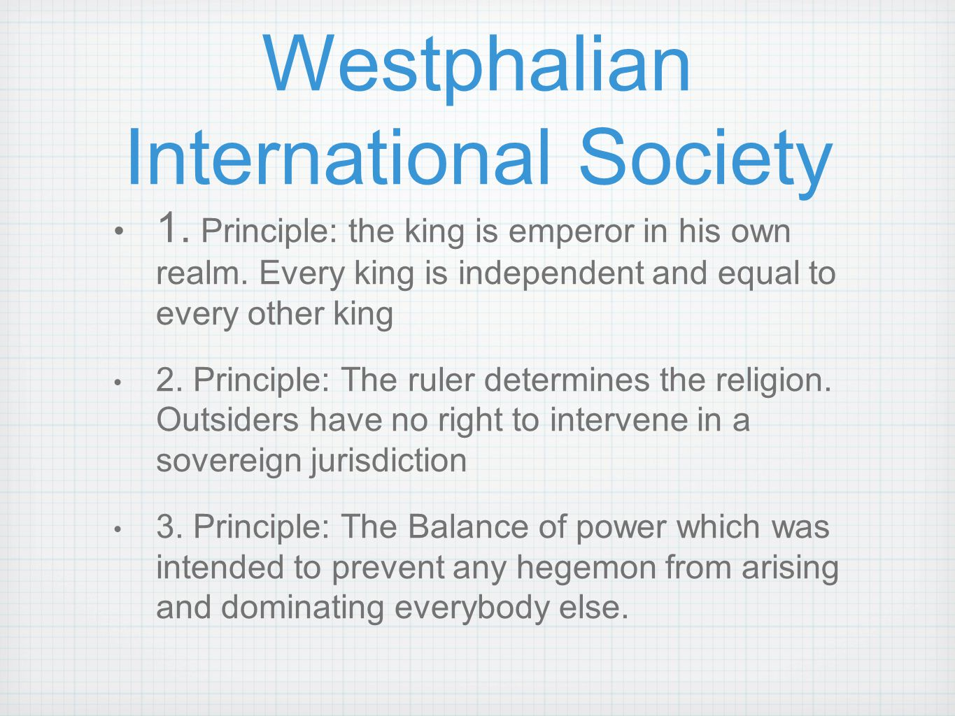 Westphalian International Society