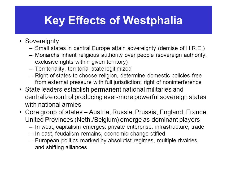Key Effects of Westphalia