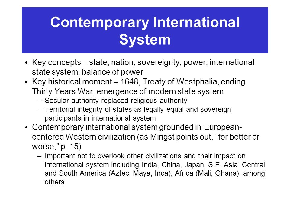 pre treaty of westphalia The westphalian system of sovereign states was established in 1648 as part of the peace of westphalia there were three core points to the treaty.