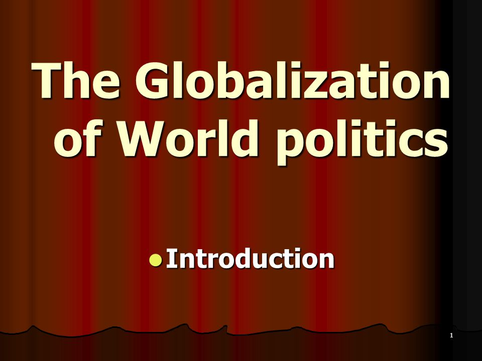 an introduction to the issue of globalization Based on their analysis of the problem, what solutions do the producers of the film offer for solving the issue of exploitation unit 1 - globalization: an introduction primary purpose & context.