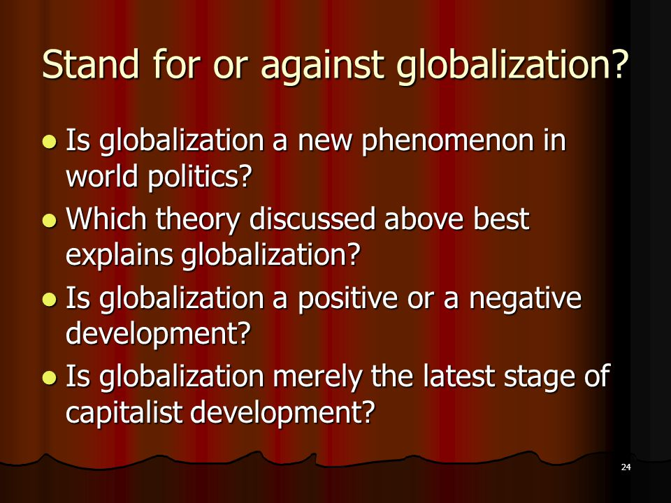 is globalization a new phenomenon New world technology globalization can be described and explained as a process of global economical, political, and cultural integration its major characteristic features are capitalism expansions, global division of labor, immigration of financial human and production resources within a society, and technological processes, as well as.