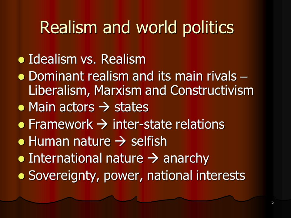 How Realism, Liberalism, and Marxism Relate to the International Political Economy