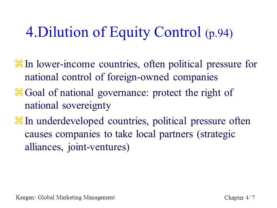 4.Dilution of Equity Control (p.94)
