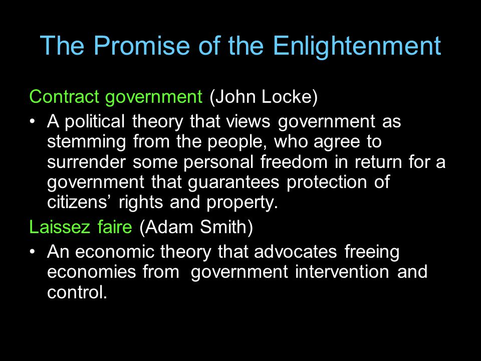 The Promise of the Enlightenment