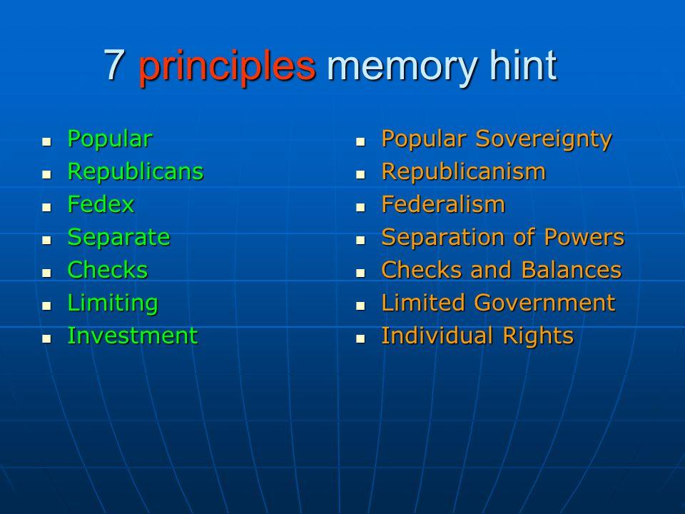 7 principles memory hint