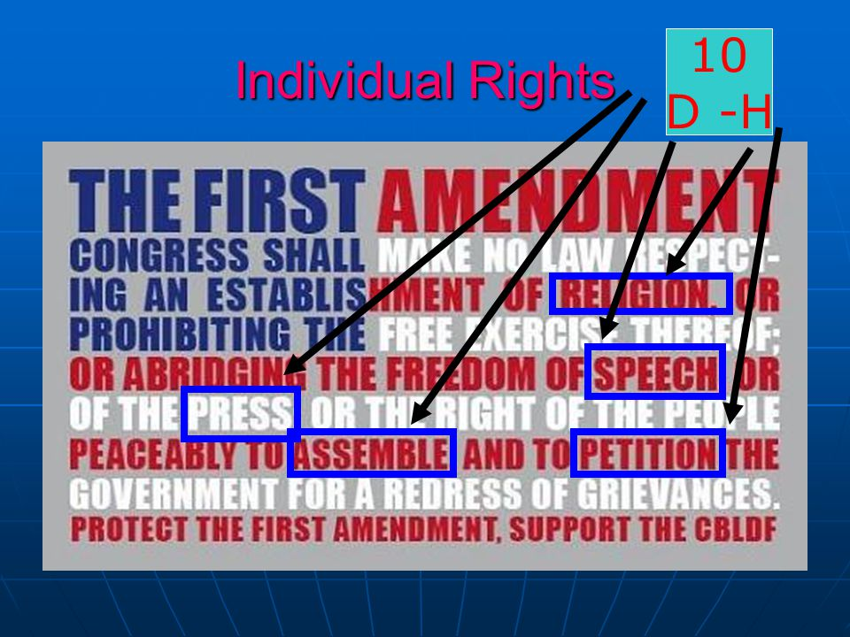 Individual Rights 10 D -H