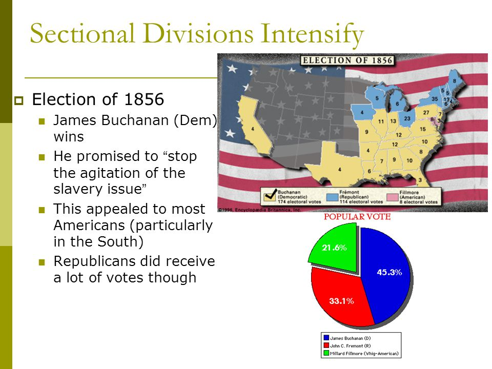 Sectional Divisions Intensify