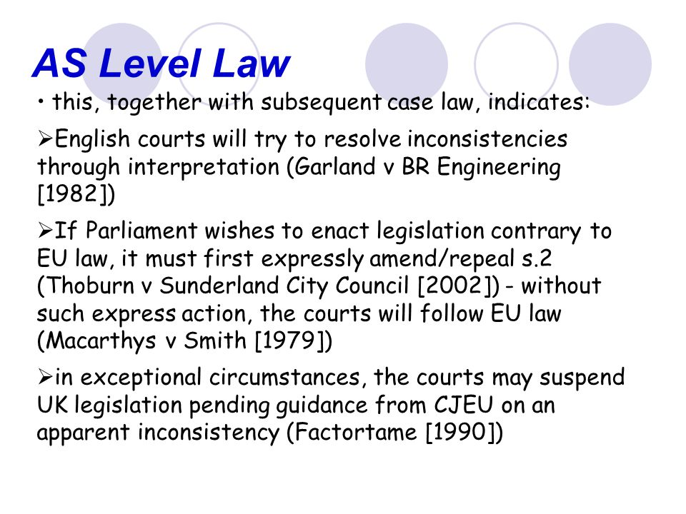 AS Level Law this, together with subsequent case law, indicates: