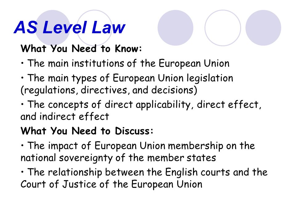 AS Level Law What You Need to Know: