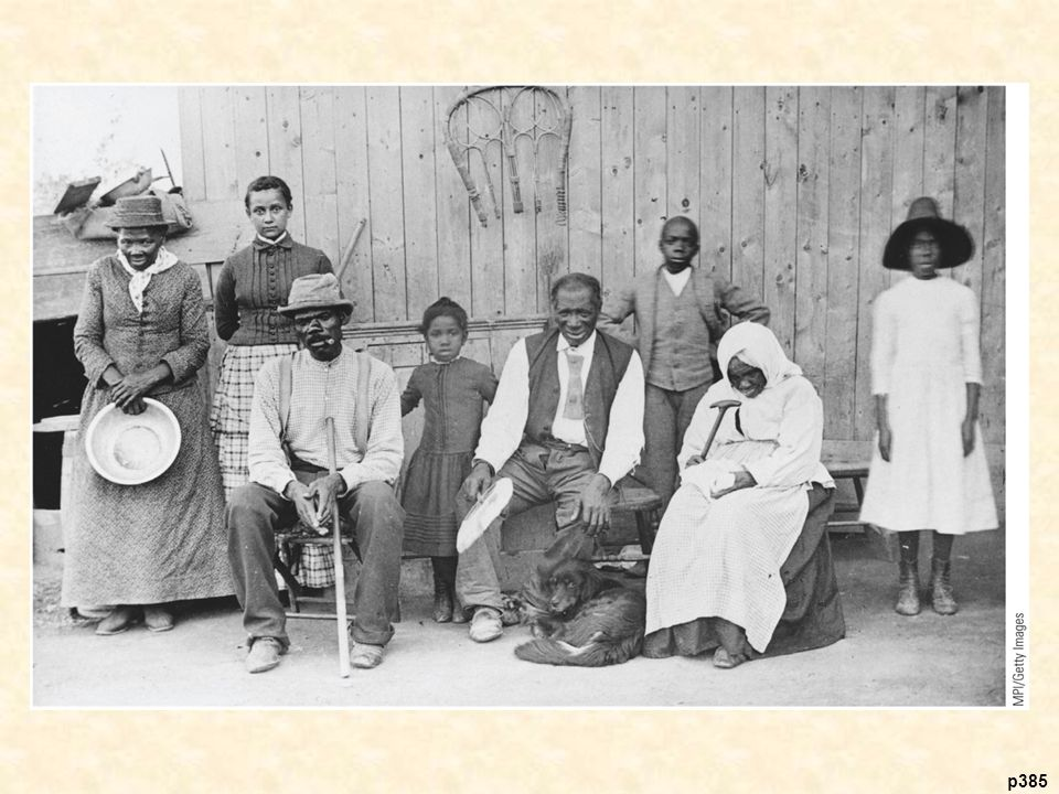 Harriet Tubman (on left) with Some of the Slaves She Helped to Free John Brown