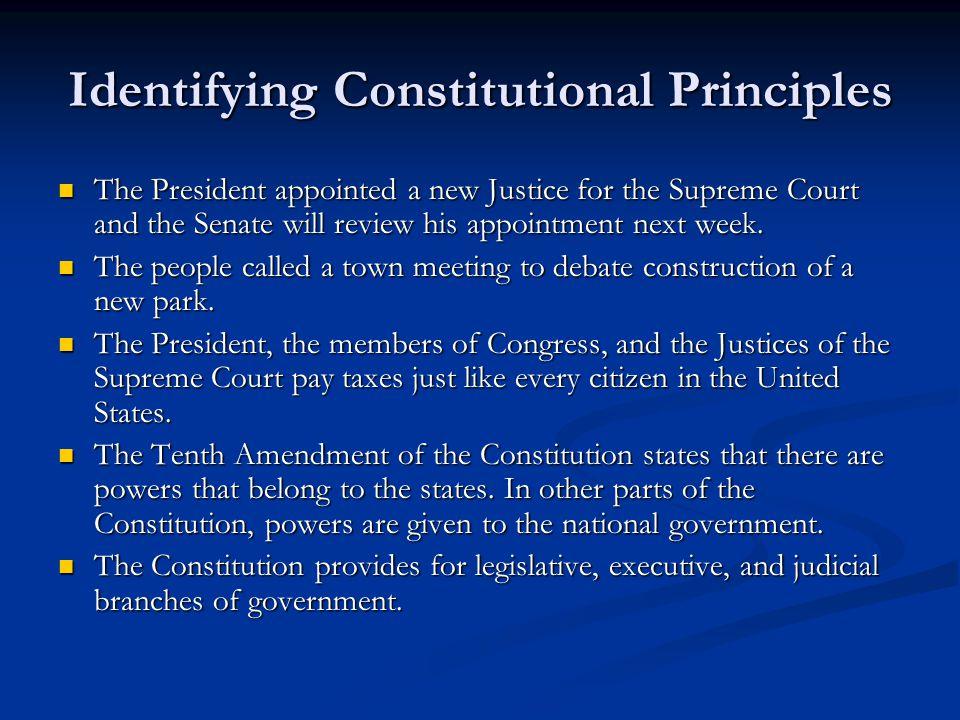 Identifying Constitutional Principles