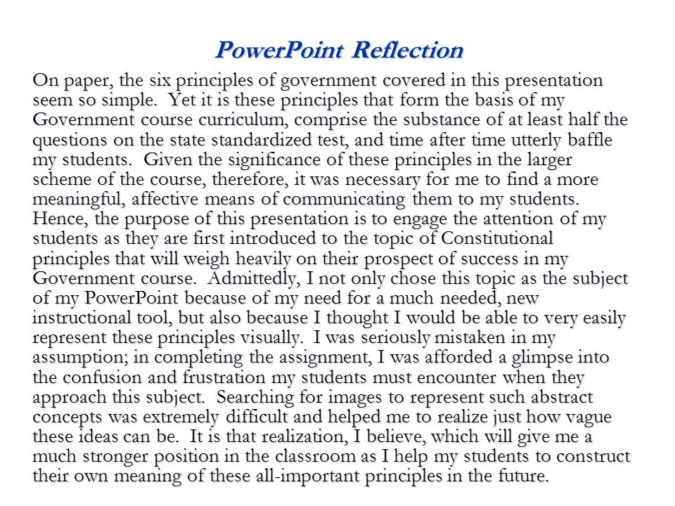 PowerPoint Reflection