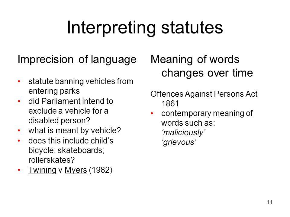Interpreting statutes