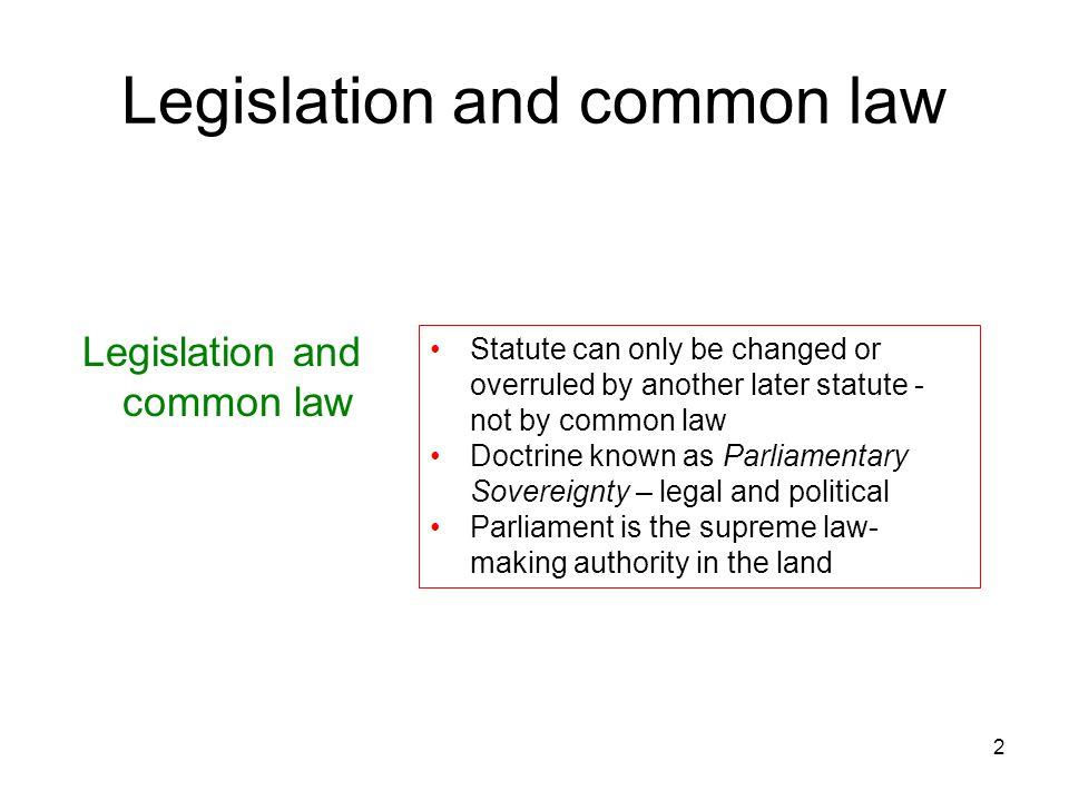 Legislation and common law
