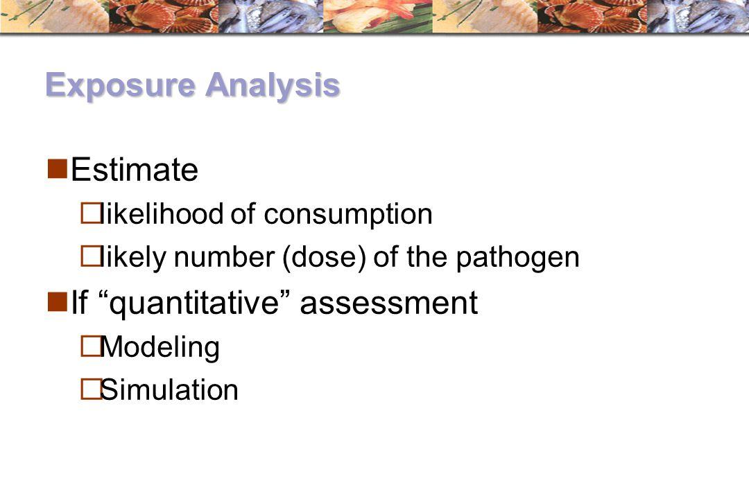 If quantitative assessment