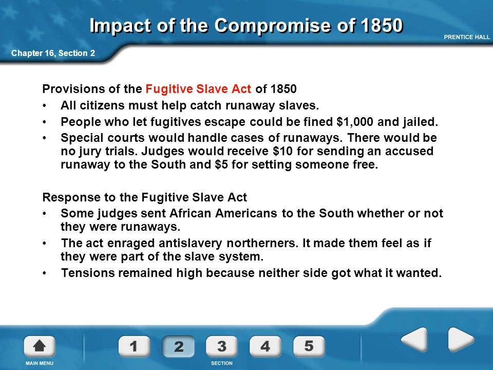 Impact of the Compromise of 1850