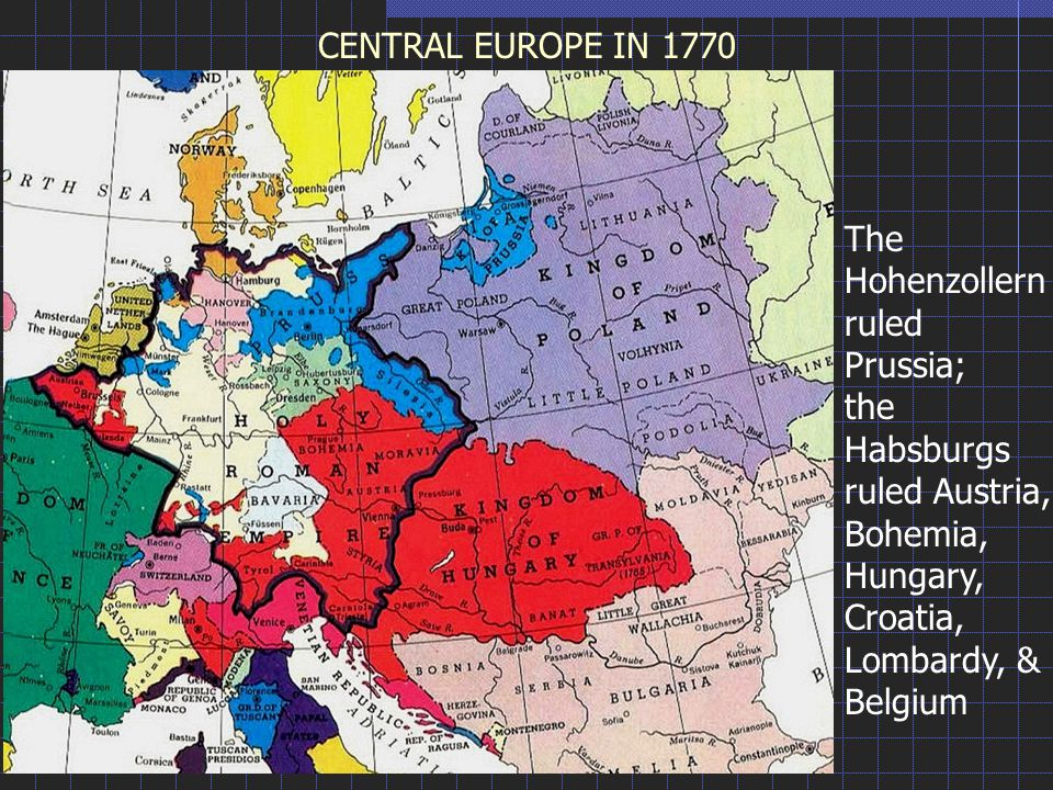 The Hohenzollernruled Prussia;