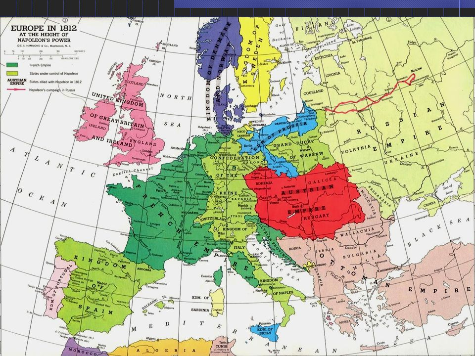 Europe in 1812 Thermidorean Art