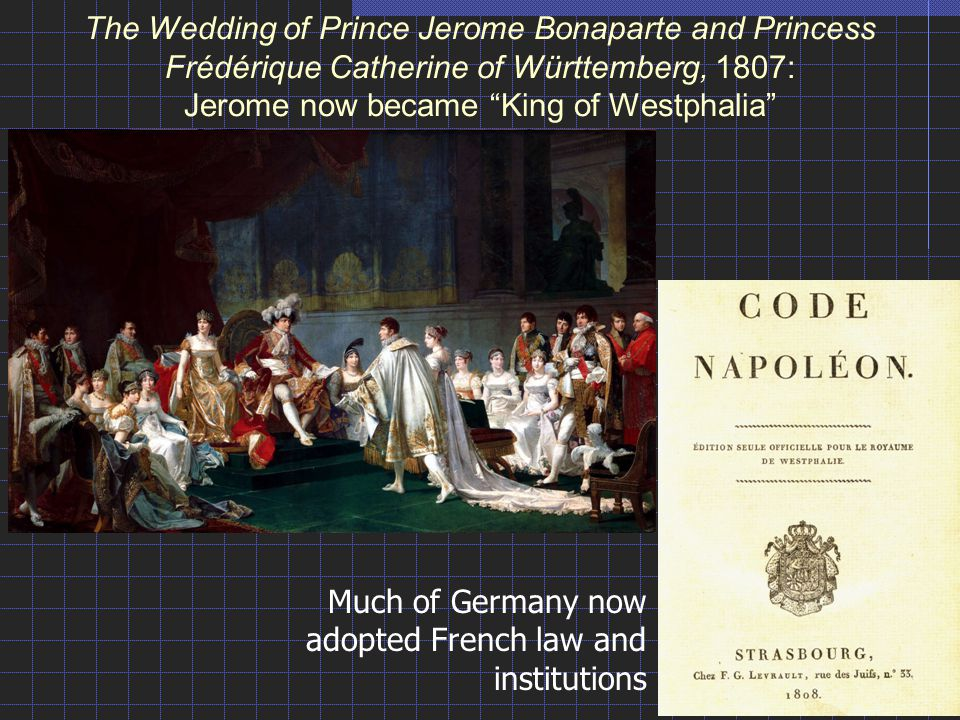 Much of Germany now adopted French law and institutions
