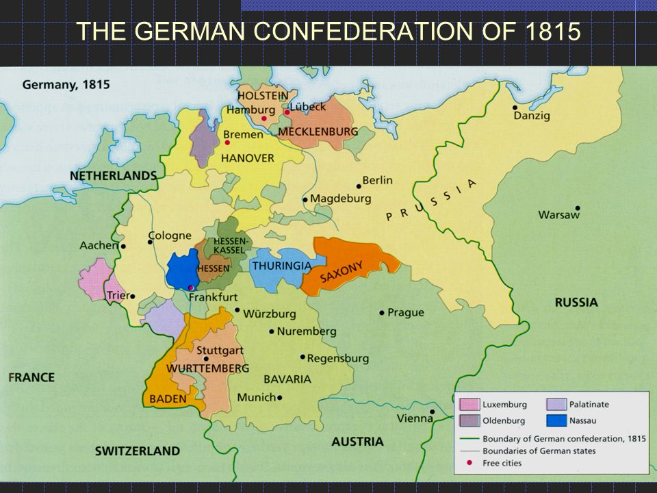 THE GERMAN CONFEDERATION OF 1815