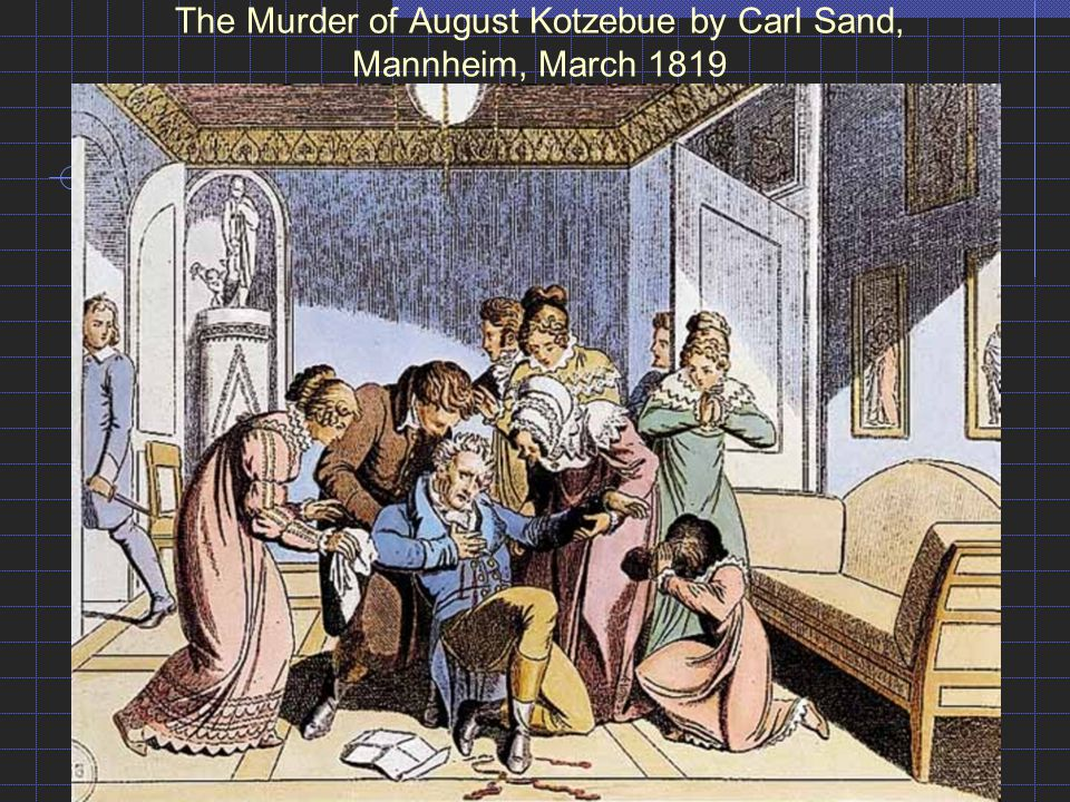 The Murder of August Kotzebue by Carl Sand, Mannheim, March 1819
