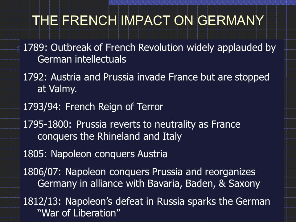 THE FRENCH IMPACT ON GERMANY