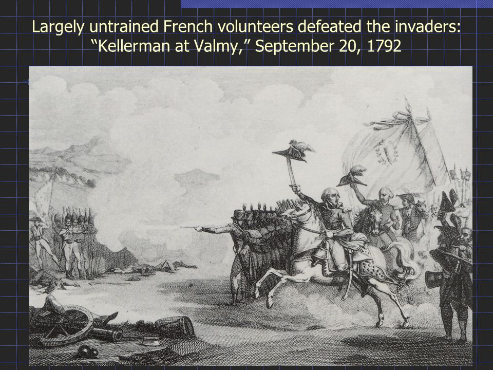 Largely untrained French volunteers defeated the invaders: Kellerman at Valmy, September 20, 1792