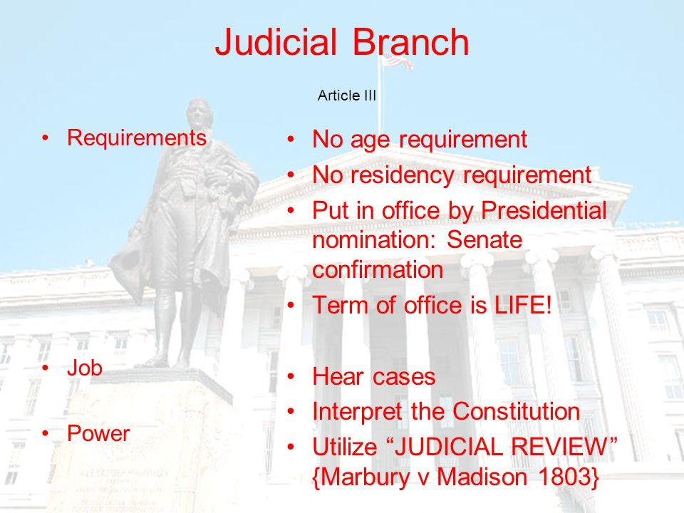 Judicial Branch Article III