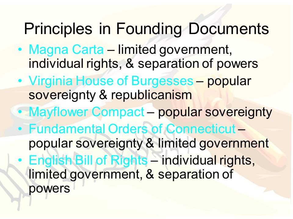Principles in Founding Documents