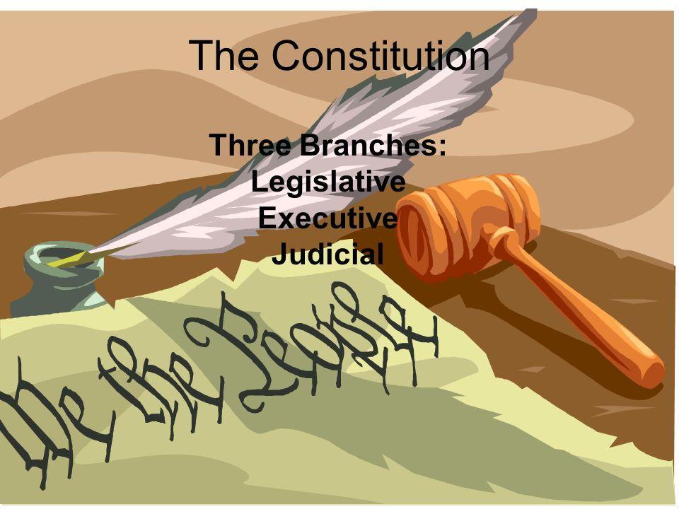 Three Branches: Legislative Executive Judicial