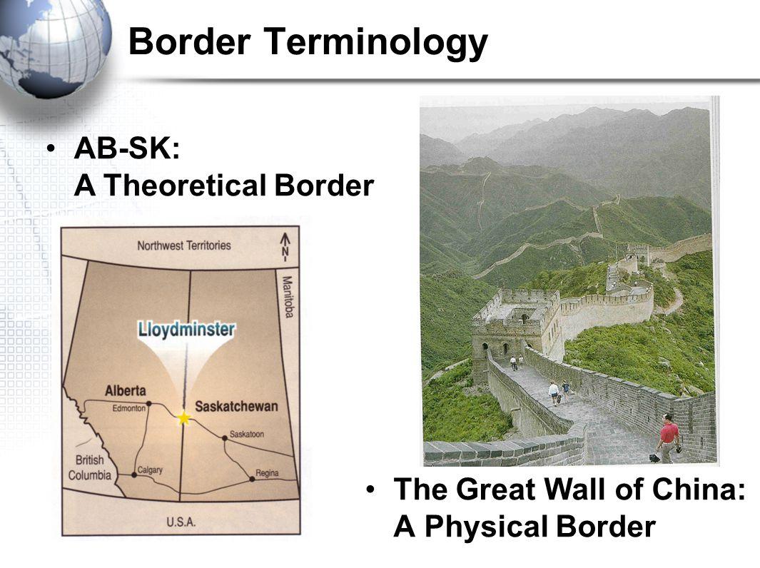 Border Terminology AB-SK: A Theoretical Border