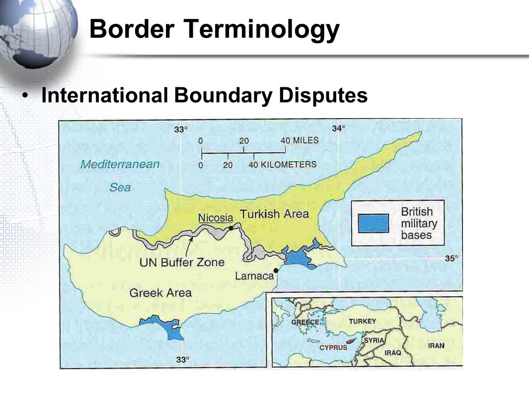 Border Terminology International Boundary Disputes