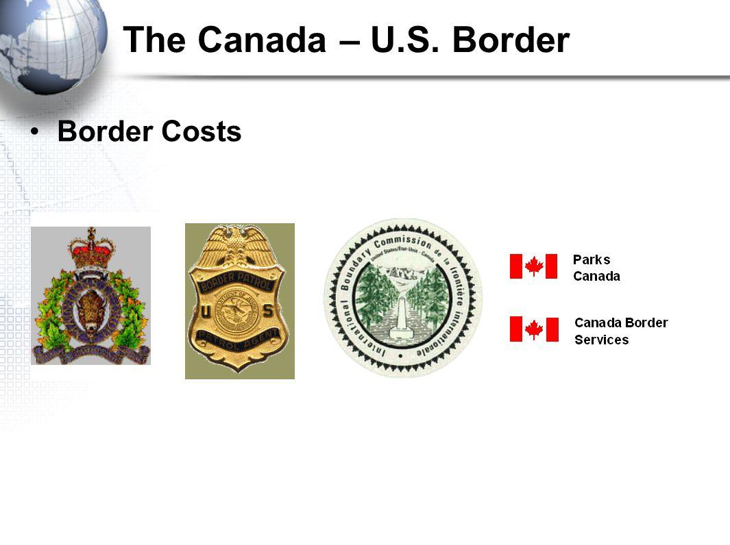 The Canada – U.S. Border Border Costs