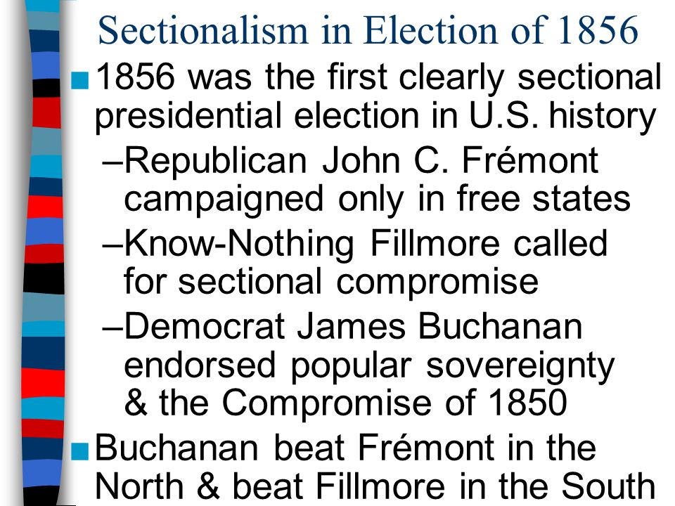 Sectionalism in Election of 1856
